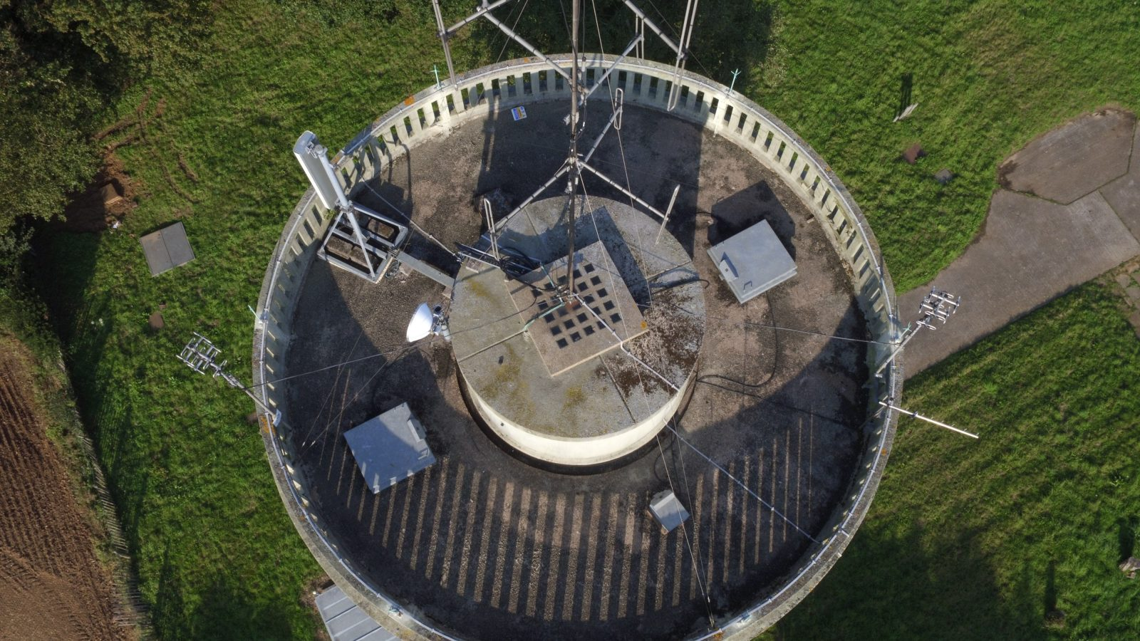 Telecommunications tower inspection Helix UAV Drone Services