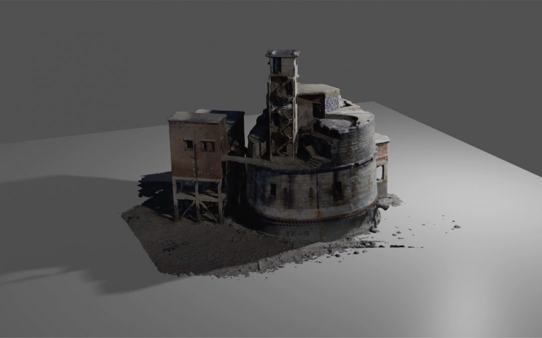 3D result of aerial building scan – Rendered in 4K