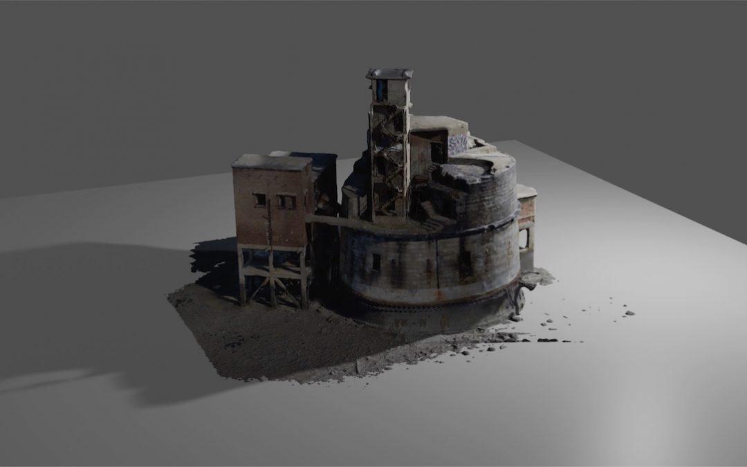 3D result of aerial building scan – Rendered in 4K