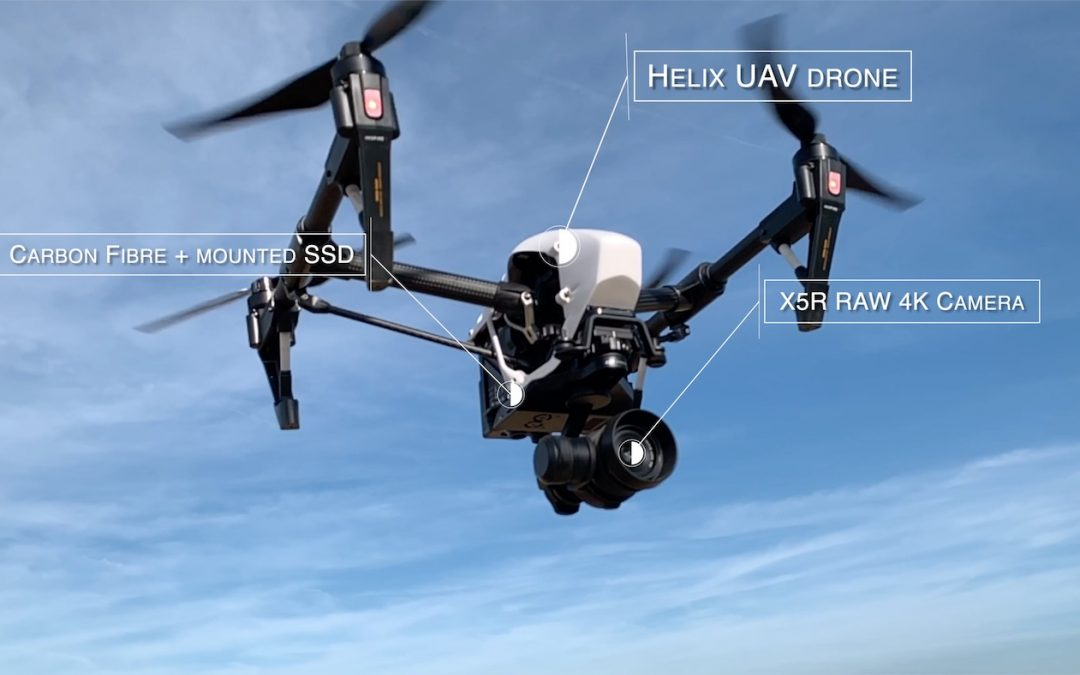 Helix UAV FX example – Text tagging point of interest #2