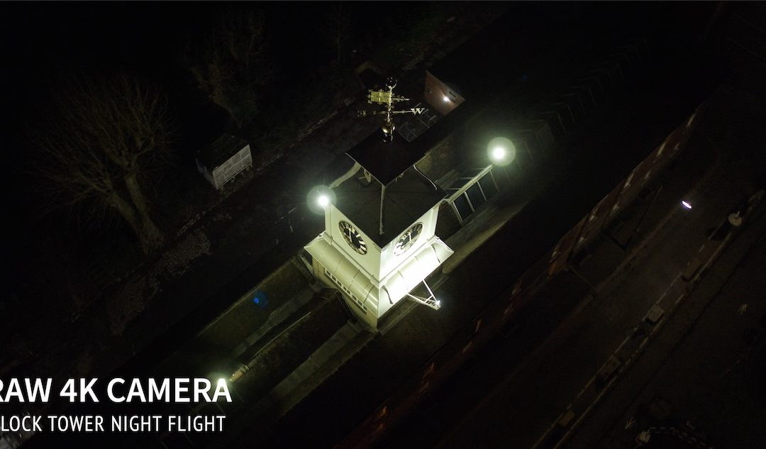 Clock Tower Night Flight – 4K RAW ADVANTAGE