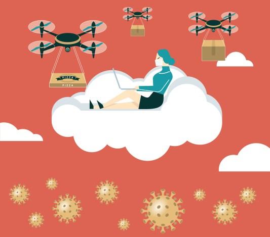 U.S. drone delivery coronavirus
