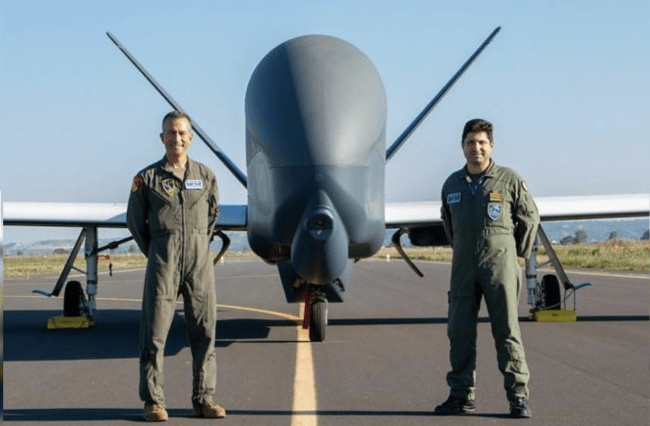 Non-Stop Flight from California to Sicily Completes NATO UAV Squadron