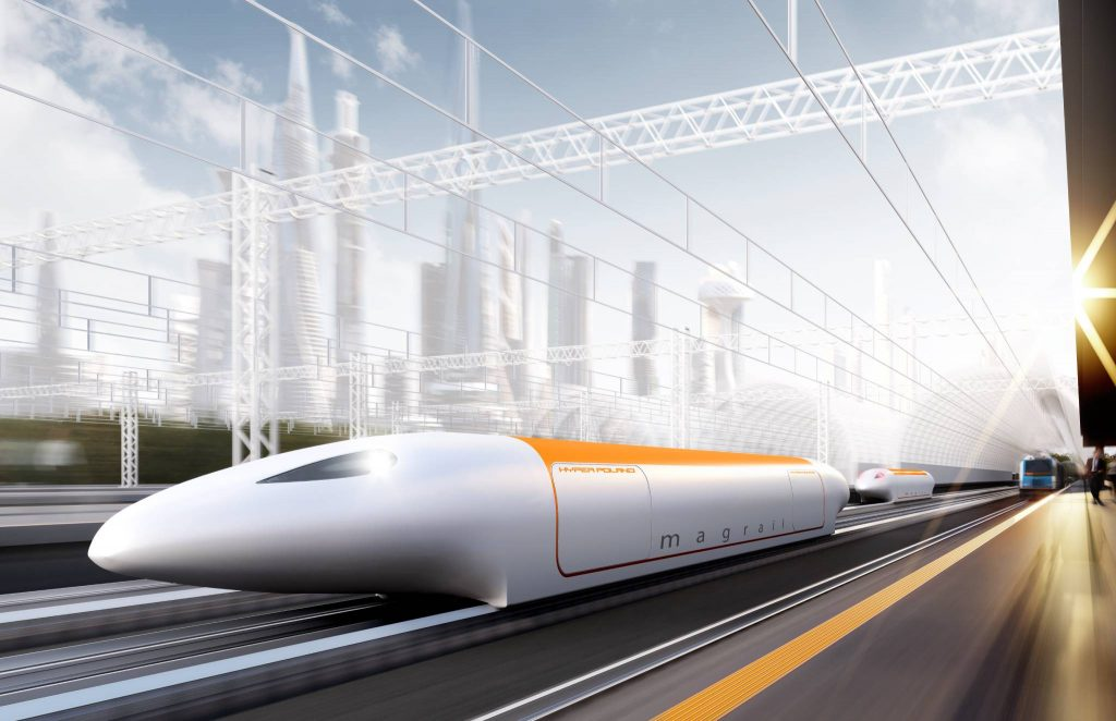Render of Nevomo hyperloop concept